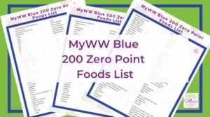 MyWW Blue 200 Zero Point Foods