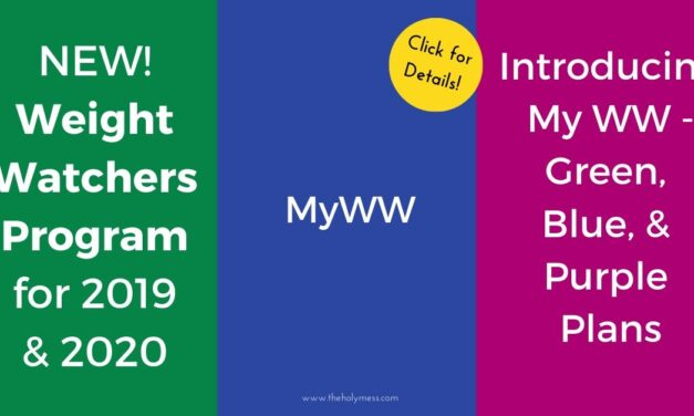 New Weight Watchers Program for 2020 – MyWW Green Blue Purple