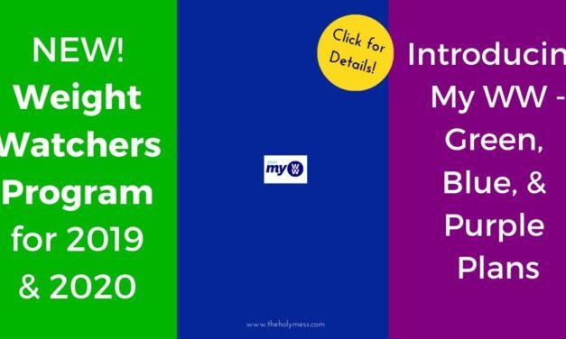 New Weight Watchers Program for 2020 – MyWW Green Blue Purple