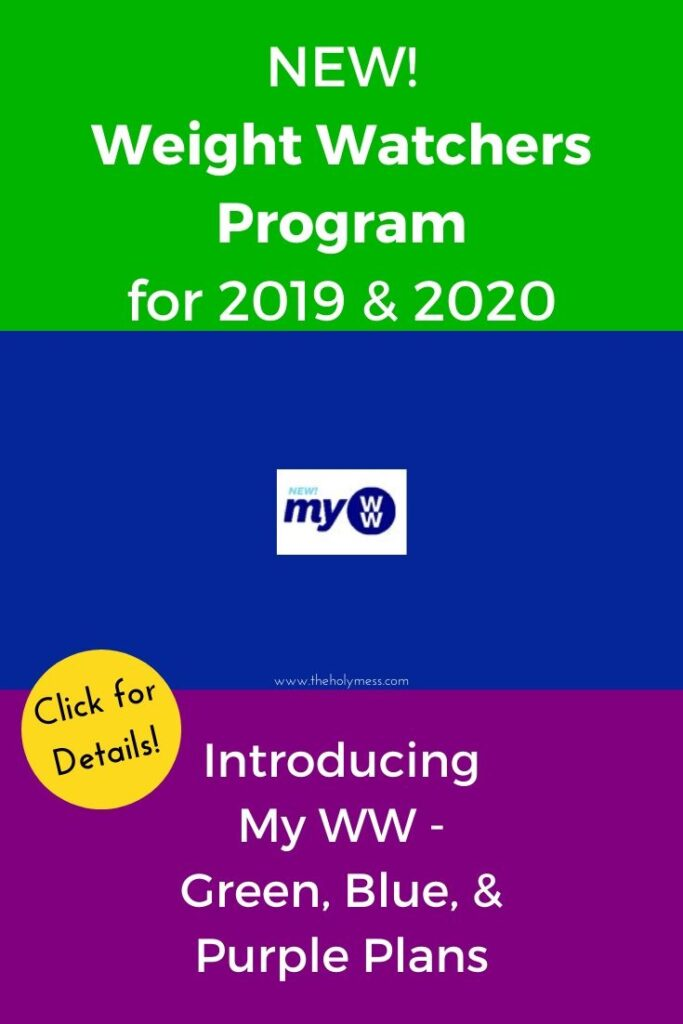 New My WW Plan for 2020 Details