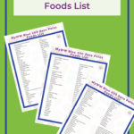 MyWW Blue 200 Zero Point Foods - with Free PDF Printable