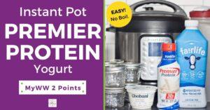 Instant Pot Premier Protein Yogurt Recipe