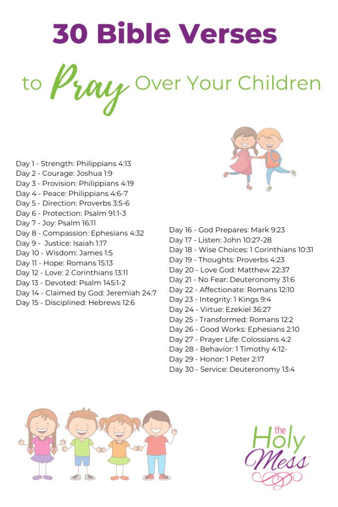 prayers children, bible verses for children