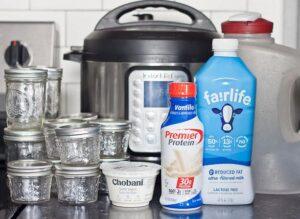 Ingredients for IP WW cold start yogurt