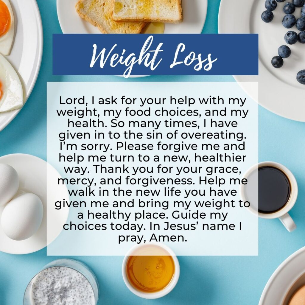 A Prayer to Lose Weight