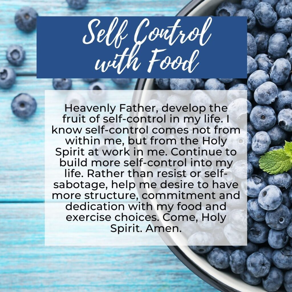 Prayer for Self-Control
