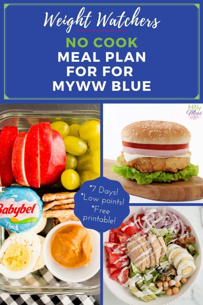 MyWW on the go 7 day meal plan blue