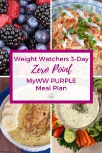 MyWW Purple Zero Point Meal Plan