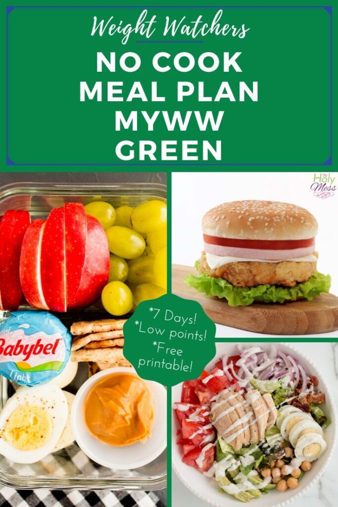 MyWW No cook 7 day meal plan GREEN