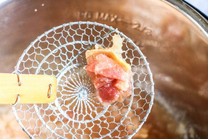 apple peels from applesauce in Instant Pot