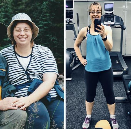 Sara Borgstede Before after 100 pound weight loss