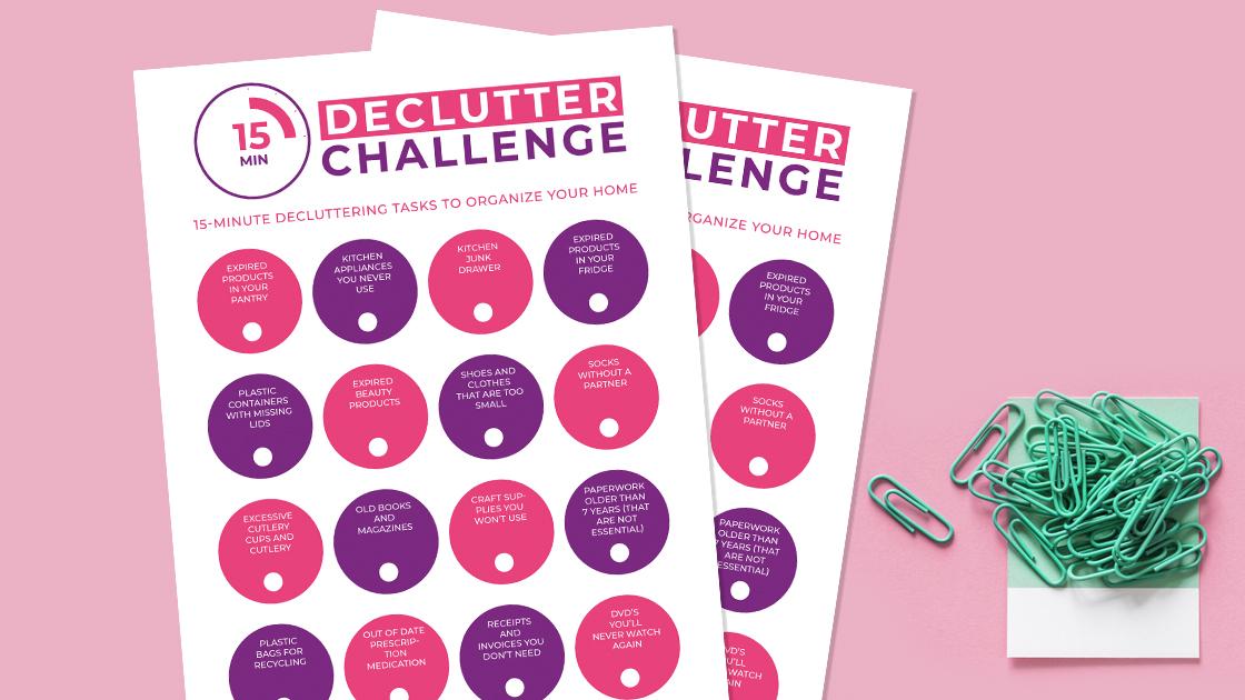 15 Minute Declutter Challenge Printable