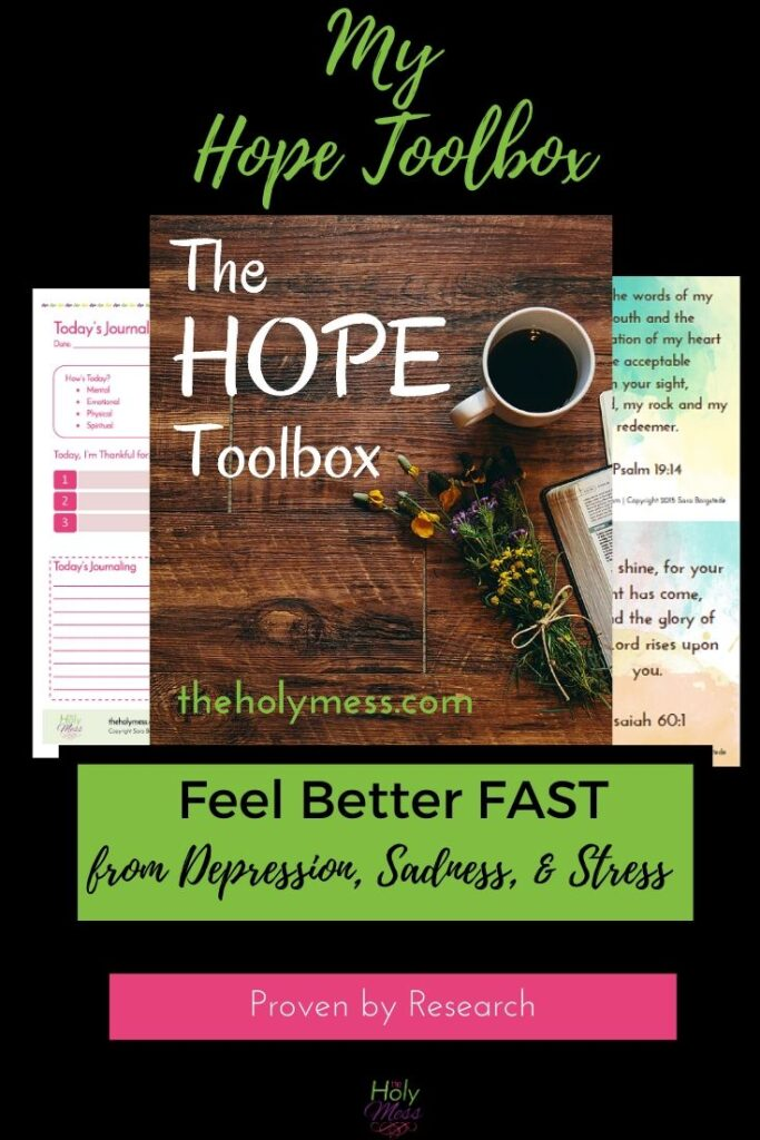My Hope Toolbox to feel better fast from depression.