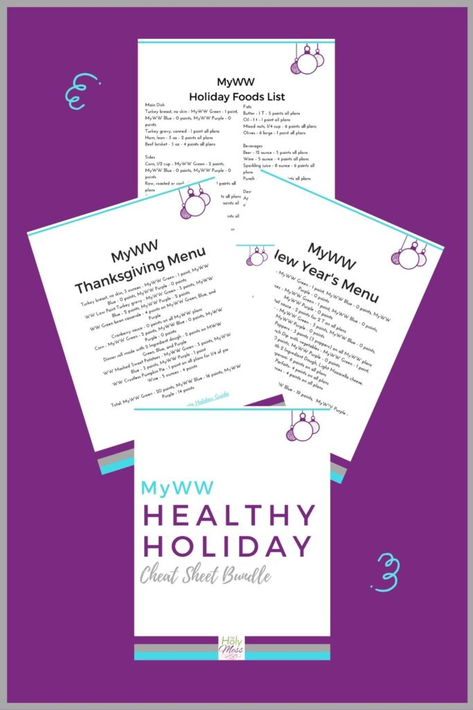 MyWW Healthy Holidays Menu Printables