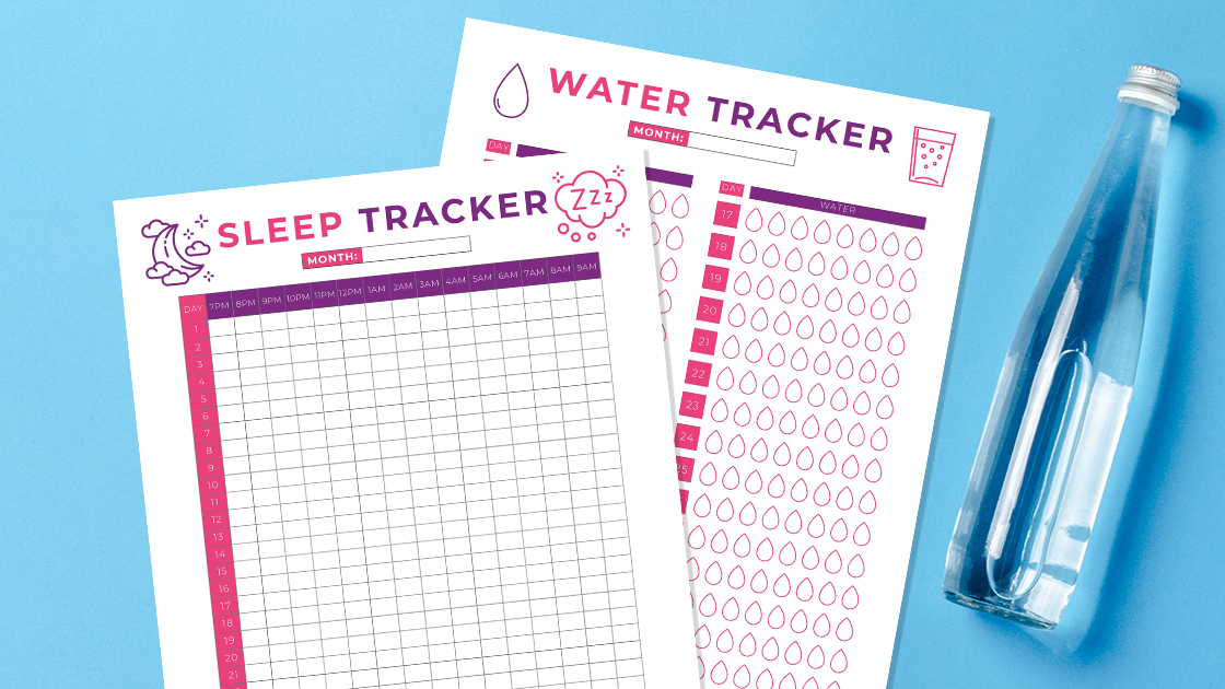 Free Printable Water Tracker for Health