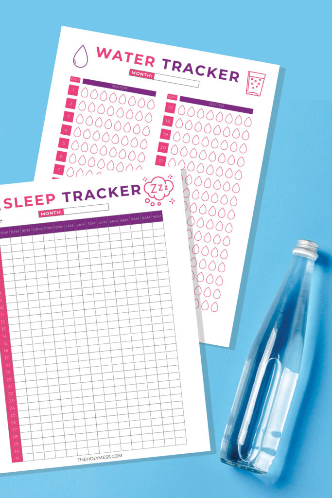 Free PDF Printable Sleep and Water Tracker