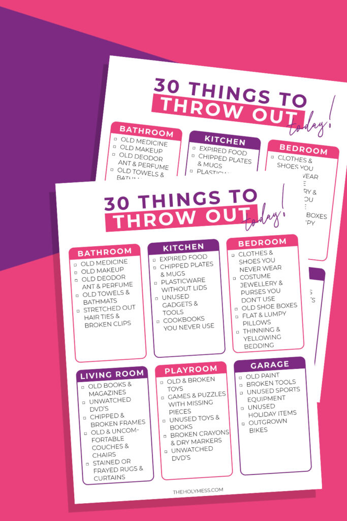 30 Things to Throw Out Now, things to declutter