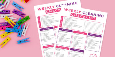 The Holy Mess Printable Weekly Cleaning Check List