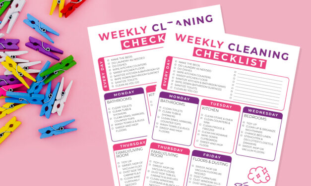 Free Printable Weekly Cleaning Checklist