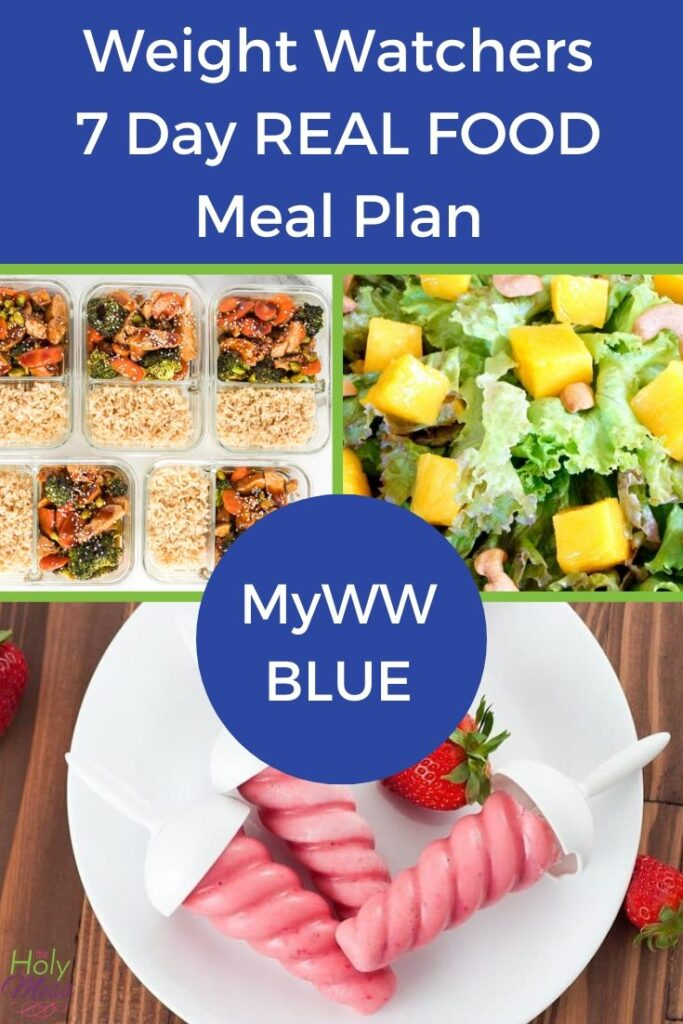 MyWW Blue 7 Day Real Food Meal Plan with free PDF