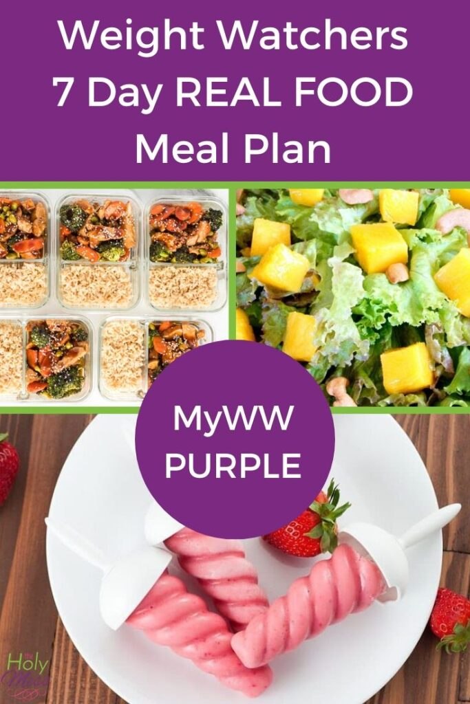 MyWW Purple 7 Day Real Food Meal Plan with Printable PDF