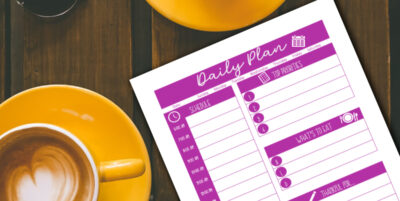 Free printable daily action plan