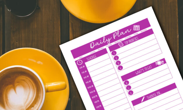 Daily Action Plan – Free Printable