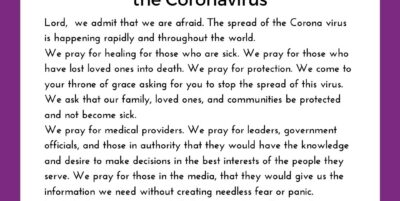 Pandemic Prayer for Protection