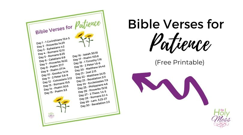 Bible Verses for Patience – 30 Day Bible Reading Plan