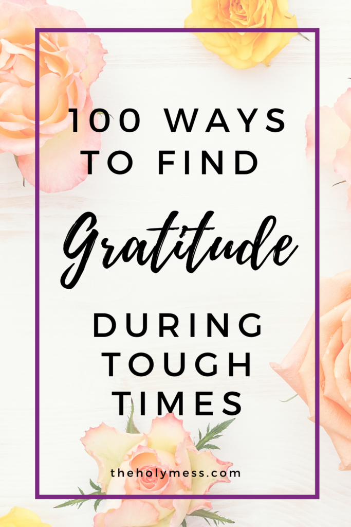Gratitude during hard times