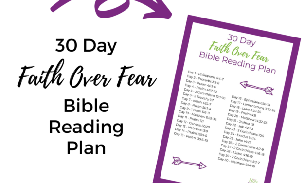 30 Day Faith Over Fear Bible Reading Plan
