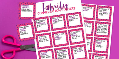 Free Family Conversation Cards