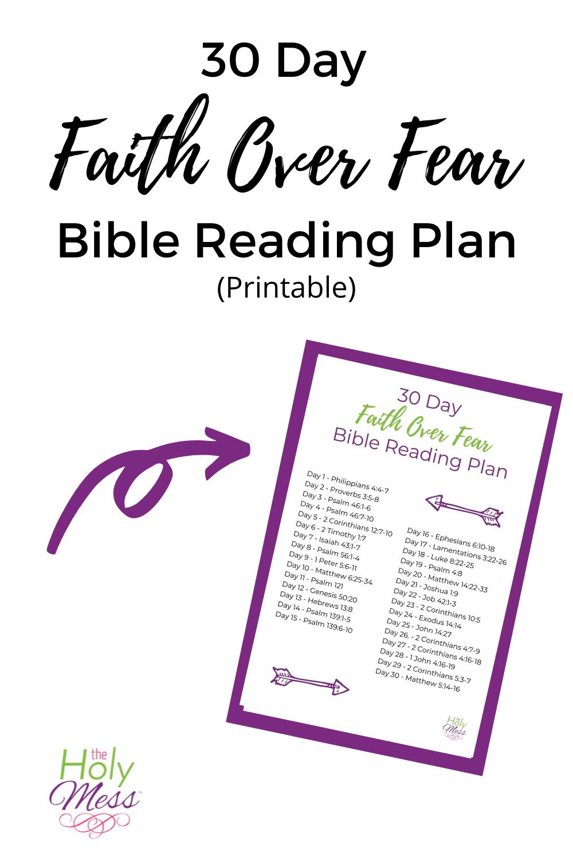 30 Day Faith Over Fear Bible Reading Plan