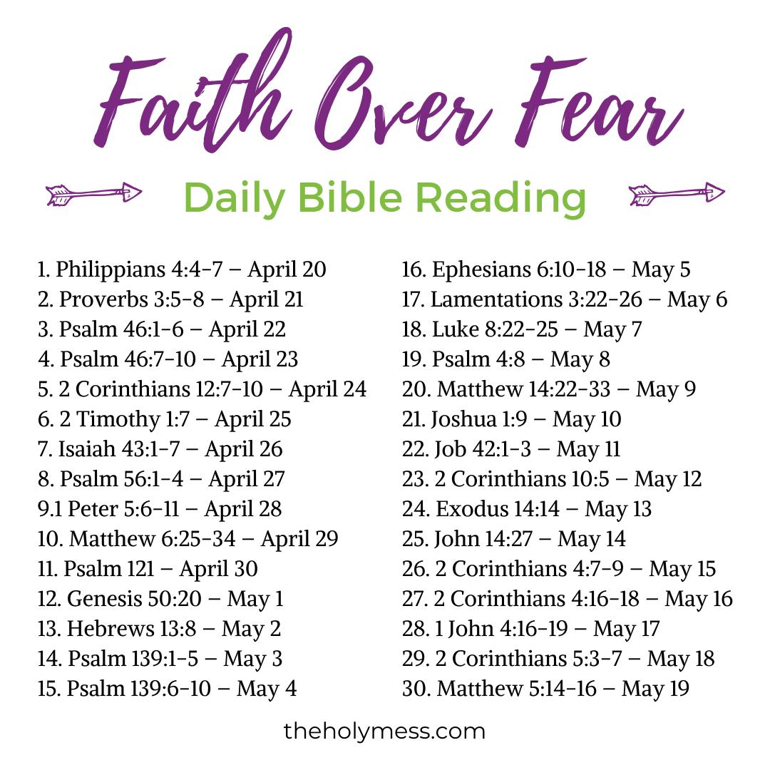 Faith Over Fear Bible Verses