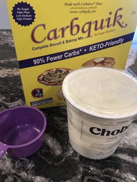 Low Carb 2 Ingredient Dough with Carb Quick
