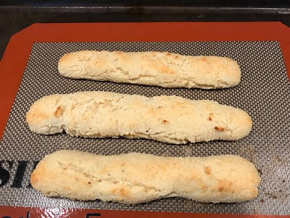 Bread sticks with almond flour