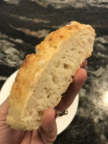 One slice of 2 ingredient dough bread