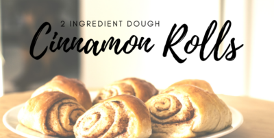 2 ingredient dough cinnamon rolls