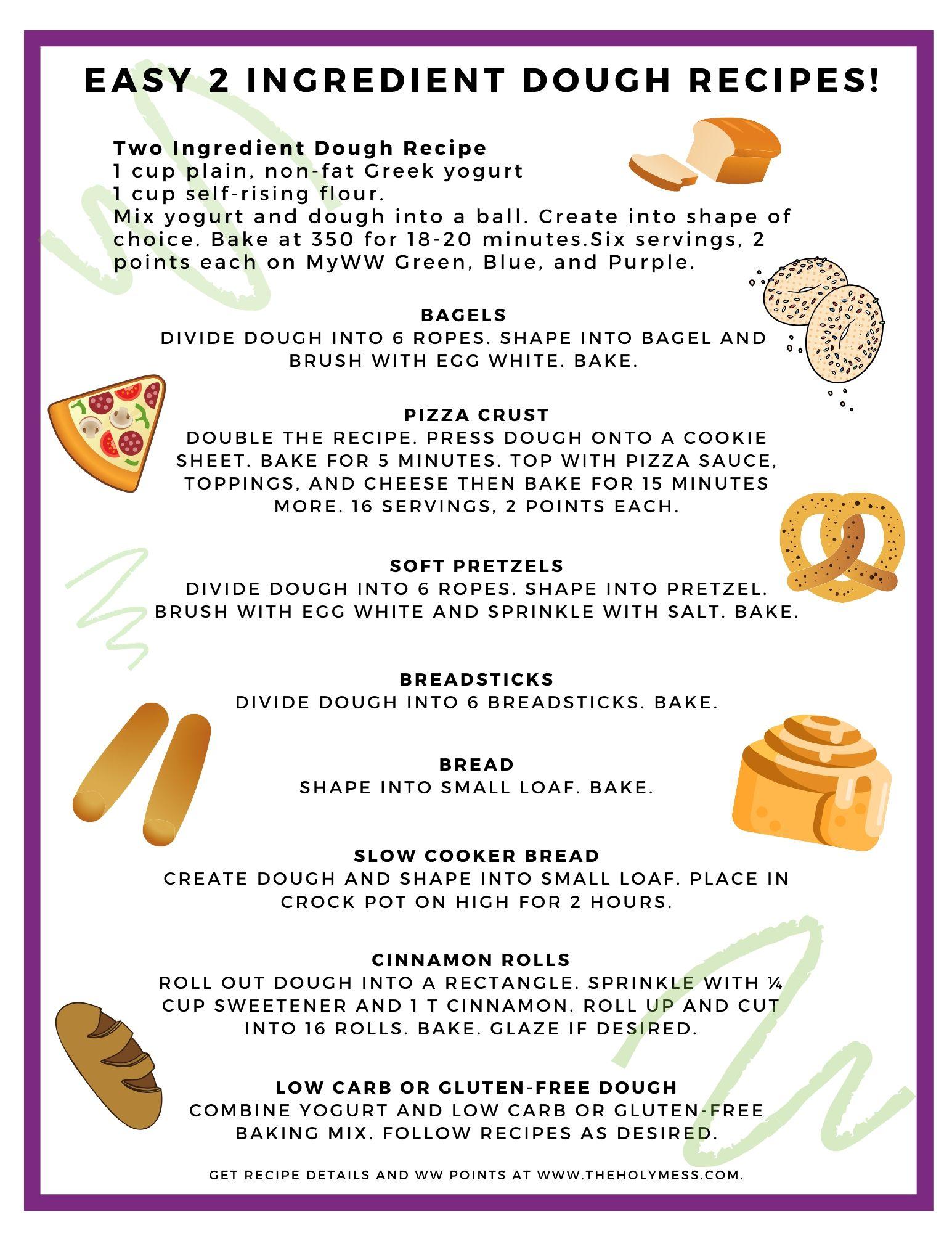 2 Ingredient Dough Recipes