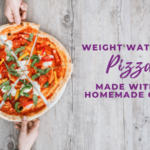 weight watchers pizza made with a homemade crust
