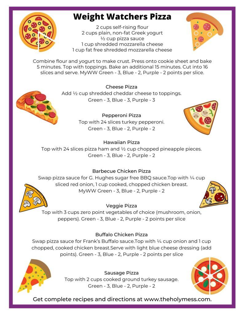 Weight Watchers Pizza recipe