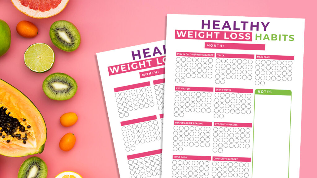 Suivi des habitudes de perte de poids sain