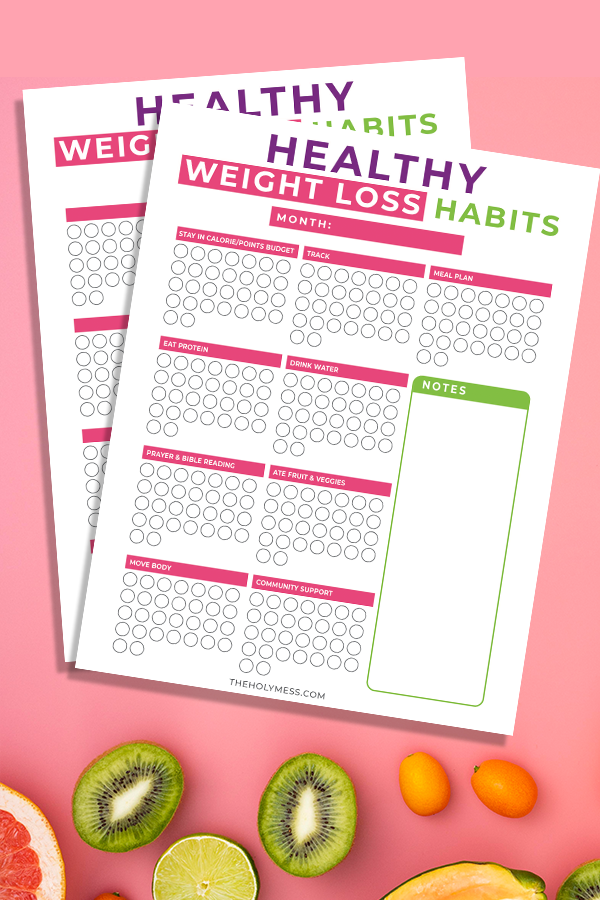 Free 30 Day Weight Loss Habits Printable Bullet Journal