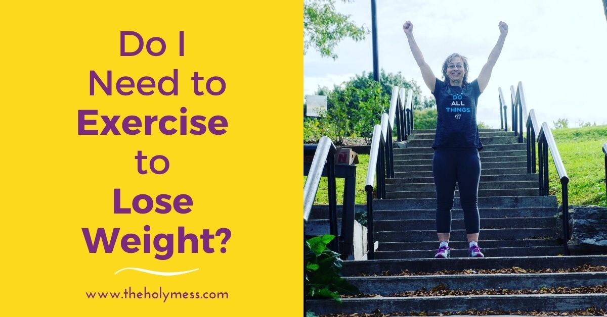Exercise for Weight Loss - Sara on steps with arms overhead