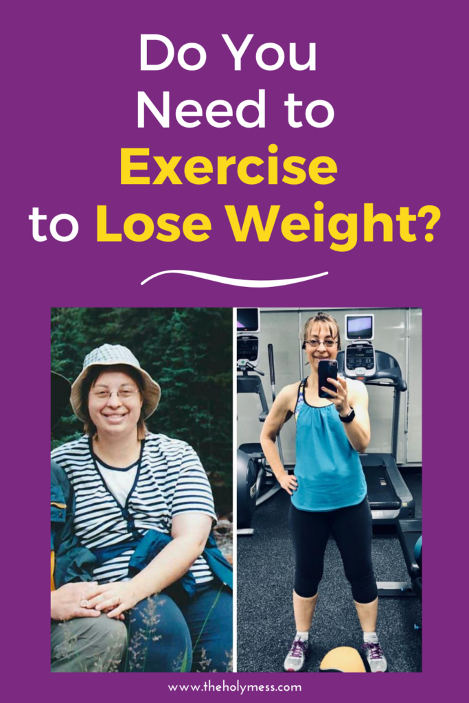 Should you exercise for weight loss? Before and After picture 100 pound weight loss