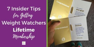 Insider tips for getting Weight Watchers Lifetime status