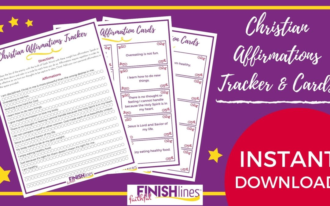 Christian Affirmations Tracker for Weight Loss