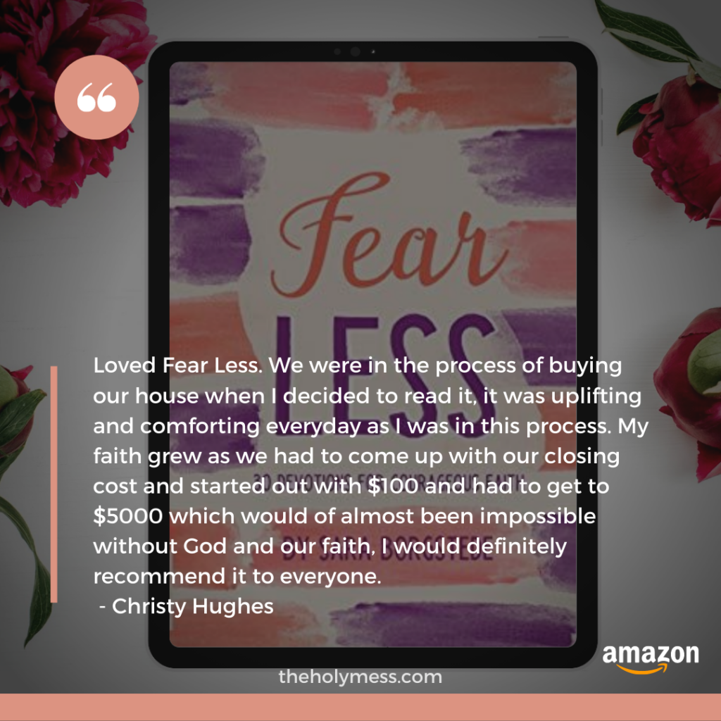 Fear Less Reader Testimonial