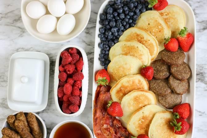 Healthy Breakfast Board with WW points