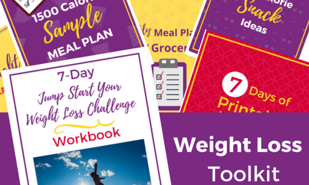 Printable Weight Loss Toolkit: Weight Loss Meal Plan, Grocery List & Tracker